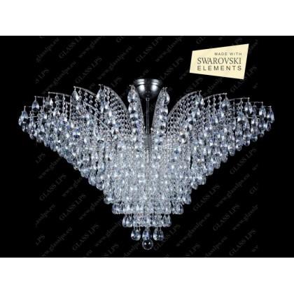 L17 555/18/1-A - Glass LPS - kryształowy żyrandol/lampa wisząca - L17 555/18/1-A - tanio - promocja - sklep