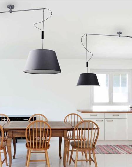 MALAGA BLACK - Azzardo - lampa wisząca
