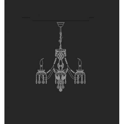 Barcelona 4L - Voltolina - kryształowa lampa wisząca
