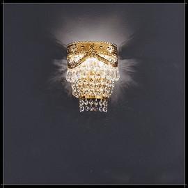 Pegaso Parete 3L - Voltolina - kinkiet klasyczny kryształowy