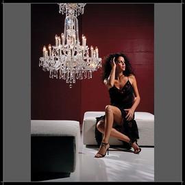 Dream 8+4L - Voltolina - kryształowa lampa wisząca