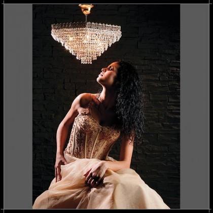 Mosca Sospensione 30 - Voltolina - lampa wisząca kryształowa