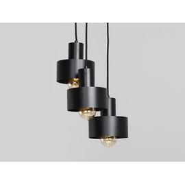 Lampa wisząca FAY 3 KOŁO - czarny - Customform