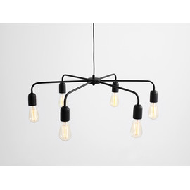 Lampa wisząca CROSER 6 - czarny - Customform