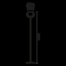 Beluga Steel D57 C01 15 - Fabbian - lampa stojąca