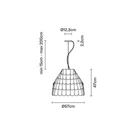 Roofer F12 A01 01 - Fabbian - lampa wisząca