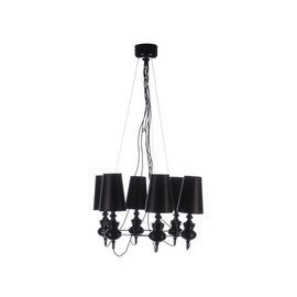 BAROCO 6 BLACK - Azzardo - lampa wisząca