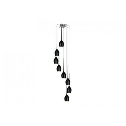 Izza 8 Black - Azzardo - lampa wisząca - MD 1288A-8BL - tanio - promocja - sklep