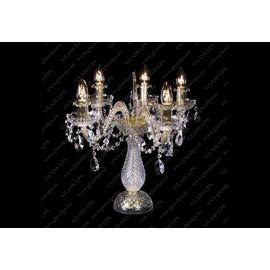 S31 009/05/1-A; GOLD, lip. - Glass LPS - kryształowa lampa biurkowa