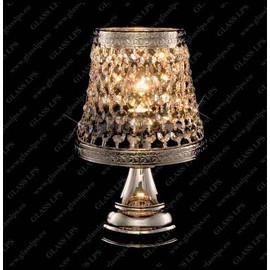 S35 369/01/6; Ni - Glass LPS - kryształowa lampa biurkowa