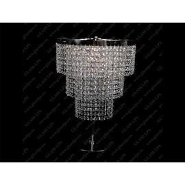 S37 238/03/6; Ni - Glass LPS - kryształowa lampa biurkowa