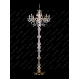S41 009/08/1-A; GOLD, lip. - Glass LPS - lampa stojąca kryształowa