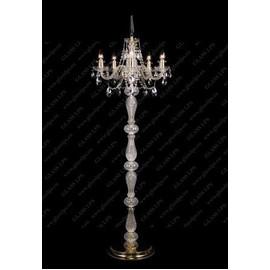 S41 009/05/1-A; GOLD, lip. - Glass LPS - lampa stojąca kryształowa