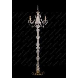 S41 009/03/1-A; GOLD, lip. - Glass LPS - lampa stojąca kryształowa