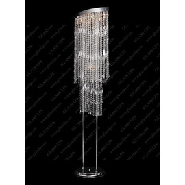 S47 010/07/3, 3-SK; F 2 coat, Ni - Glass LPS - lampa stojąca kryształowa