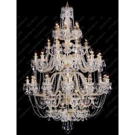 L11 009/48/1-A; GOLD, lip. - Glass LPS - kryształowy żyrandol/lampa wisząca
