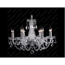 L11 006/06/1-A; SILVER - Glass LPS - kryształowy żyrandol/lampa wisząca