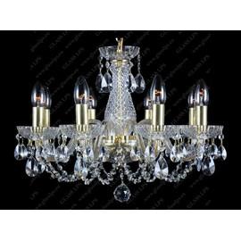 L11 006/08/1-A; GOLD - Glass LPS - kryształowy żyrandol/lampa wisząca