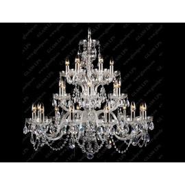 L11 801/24/1-A; SILVER - Glass LPS - kryształowy żyrandol/lampa wisząca
