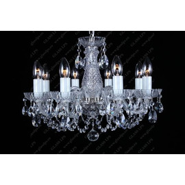 L11 006/08/1-A; Ni - Glass LPS - kryształowy żyrandol/lampa wisząca
