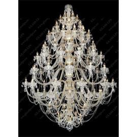 L11 009/96/1-A; GOLD, lip. - Glass LPS - kryształowy żyrandol/lampa wisząca