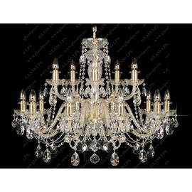 L11 009/15/1-A; GOLD, lip. - Glass LPS - kryształowy żyrandol/lampa wisząca