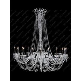 L11 918/18/1-A; SILVER - Glass LPS - kryształowy żyrandol/lampa wisząca
