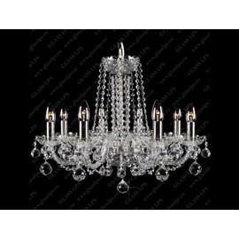 L11 007/08/4; SILVER - Glass LPS - kryształowy żyrandol/lampa wisząca