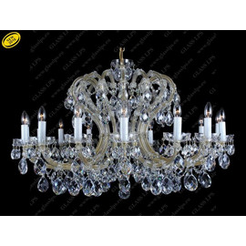 L14 004/16/1; F cut - Glass LPS - kryształowy żyrandol/lampa wisząca