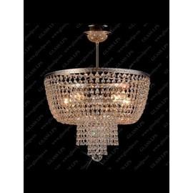 L15 757/05/6; Ni - Glass LPS - kryształowy żyrandol/lampa wisząca