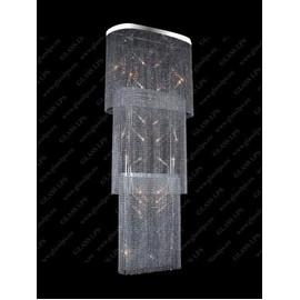 L15 644/22/6; F 3 floor, Ni - Glass LPS - kryształowy żyrandol/lampa wisząca