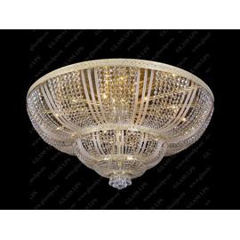 L15 505/42/3; F 4 floor, arms - Glass LPS - kryształowy żyrandol/lampa wisząca