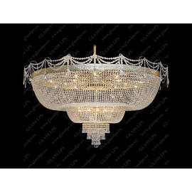 L15 502/64/1-A, 3; F 2 floor, tube - Glass LPS - kryształowy żyrandol/lampa wisząca
