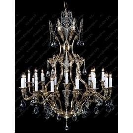 L16 141/24/1; F long, light - Glass LPS - kryształowy żyrandol/lampa wisząca
