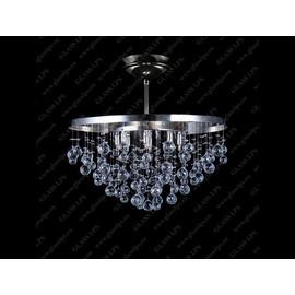 L17 236/08/4; F short, tube, Ni - Glass LPS - kryształowy żyrandol/lampa wisząca
