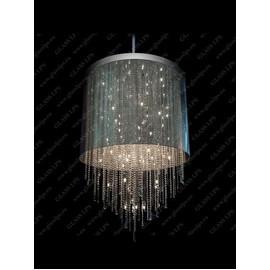 L17 701/40/3, 3-K; F tube, shade (transparent), Ni - Glass LPS - kryształowy żyrandol/lampa wisząca