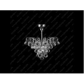 L17 555/04/4; Ni - Glass LPS - kryształowy żyrandol/lampa wisząca