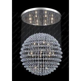 L17 540/28/4; Ni - Glass LPS - kryształowy żyrandol/lampa wisząca
