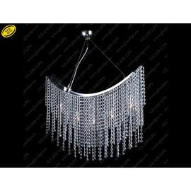 L17 802/09/6; Ni - Glass LPS - kryształowy żyrandol/lampa wisząca