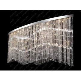 L17 010/38/3, 3-SK; F 2 coat, Ni - Glass LPS - kryształowy żyrandol/lampa wisząca