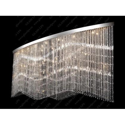 L17 010/38/3, 3-SK; F 2 coat, Ni - Glass LPS - kryształowy żyrandol/lampa wisząca - L17 010/38/3, 3-SK; F 2 coat, Ni - tani...