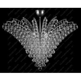 L17 555/18/4; Ni - Glass LPS - kryształowy żyrandol/lampa wisząca