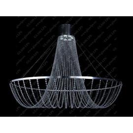 L17 574/08/6; Ni - Glass LPS - kryształowy żyrandol/lampa wisząca