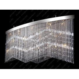 L17 010/25/3, 3-SK; F 2 coat, tube, Ni - Glass LPS - kryształowy żyrandol/lampa wisząca