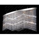 L17 010/25/3, 3-SK; F 2 coat, tube, Ni - Glass LPS - kryształowa lampa sufitowa