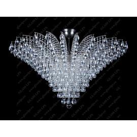 L17 555/18/1-A; Ni - Glass LPS - kryształowy żyrandol/lampa wisząca
