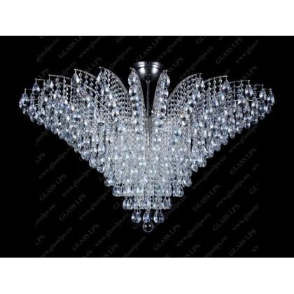 L17 555/18/1-A; Ni - Glass LPS - kryształowy żyrandol/lampa wisząca - L17 555/18/1-A; Ni - tanio - promocja - sklep
