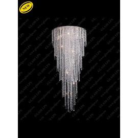 L17 702/10/3, 3-K; Ni - Glass LPS - kryształowa lampa sufitowa