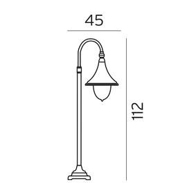 Firenze - Norlys - lampa stojąca ogrodowa