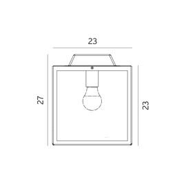 Lofoten - Norlys - plafon/lampa sufitowa